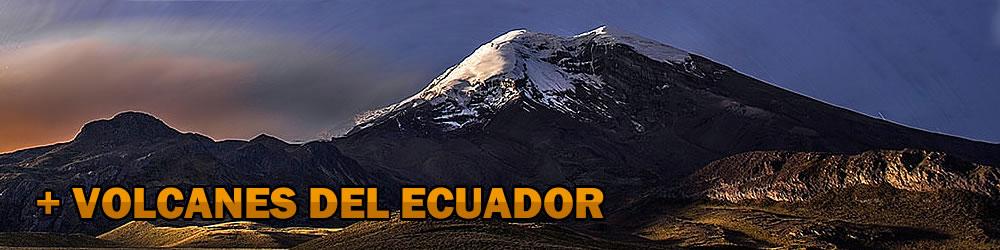 lista completa de volcanes del Ecuador