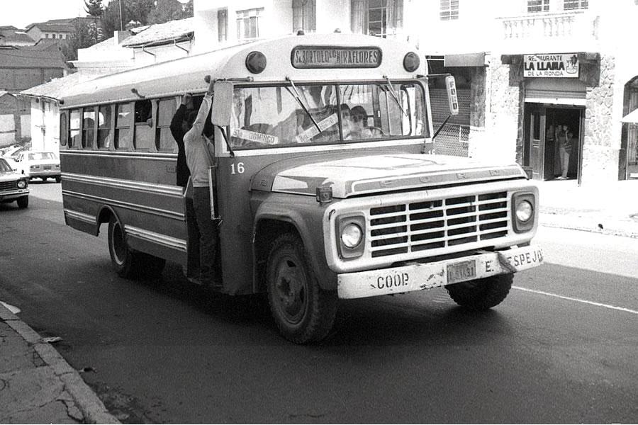 bus 1980 en Quito