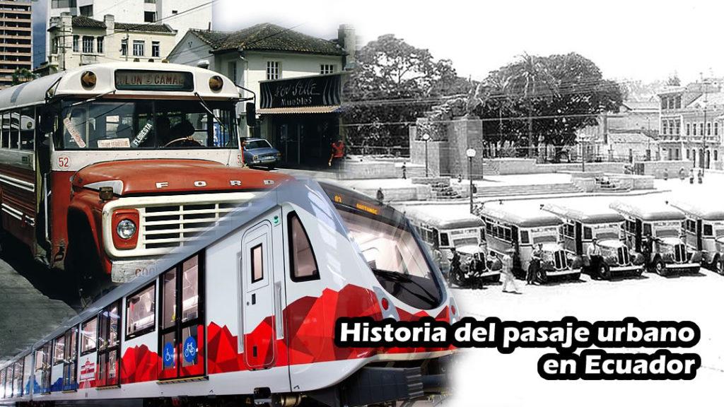 pasajes de bus 1930 a 2019
